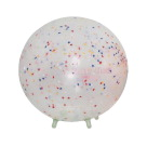 Sportime 18 in B.R.Q. Ball Chair with Built-in Legs, Transparent with Stars