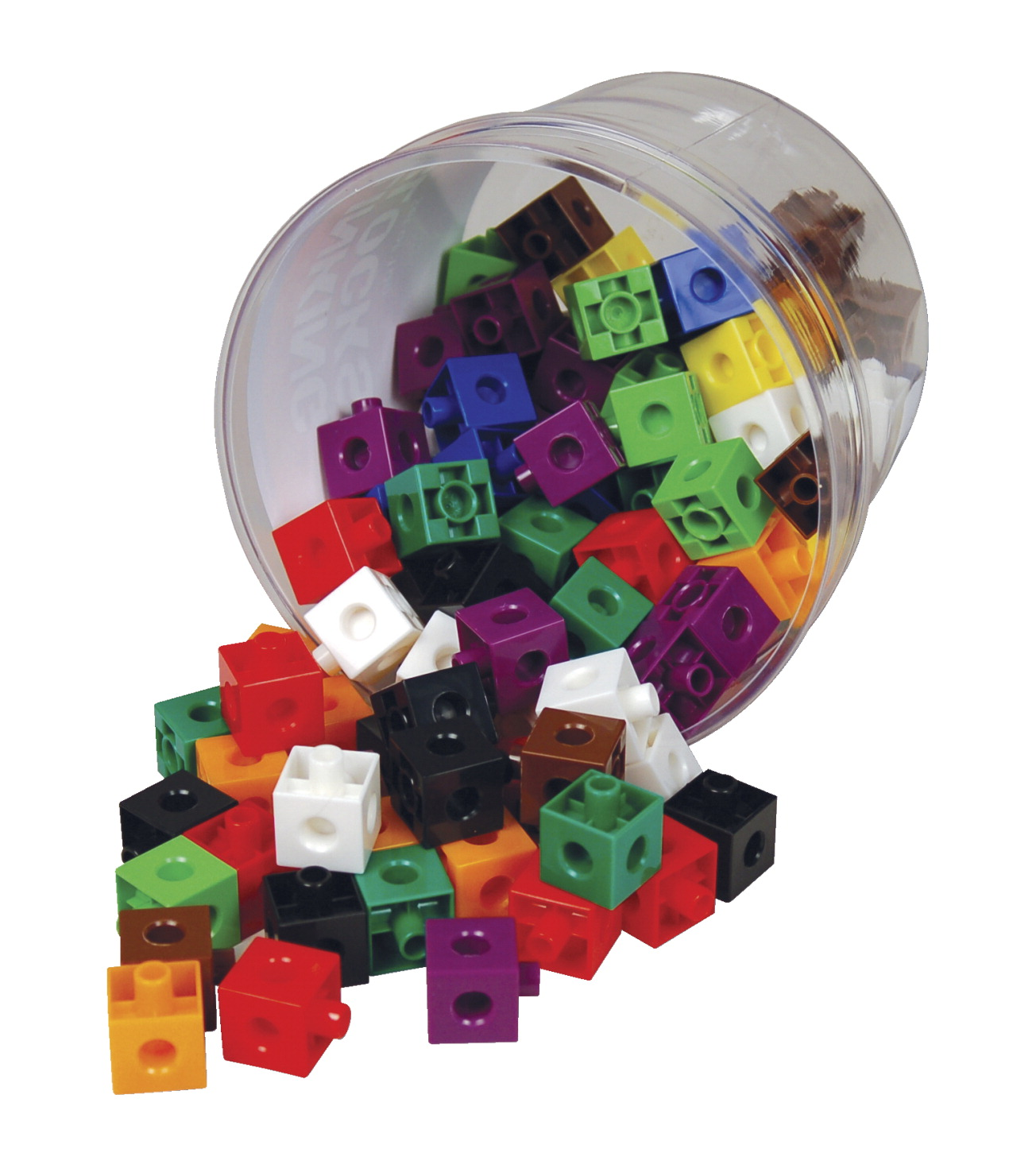 Learning Advantage Link Blocks - Set of 100 - Assorted Colors