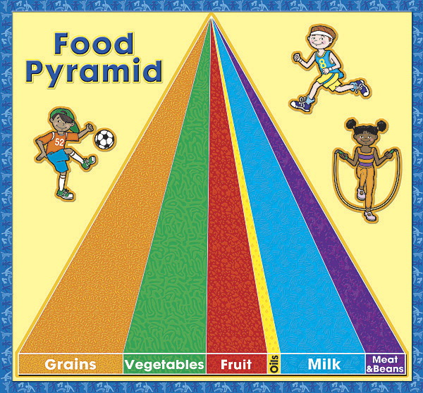 The Ultimate Pocket Chart - Food Pyramid Pocket Insert