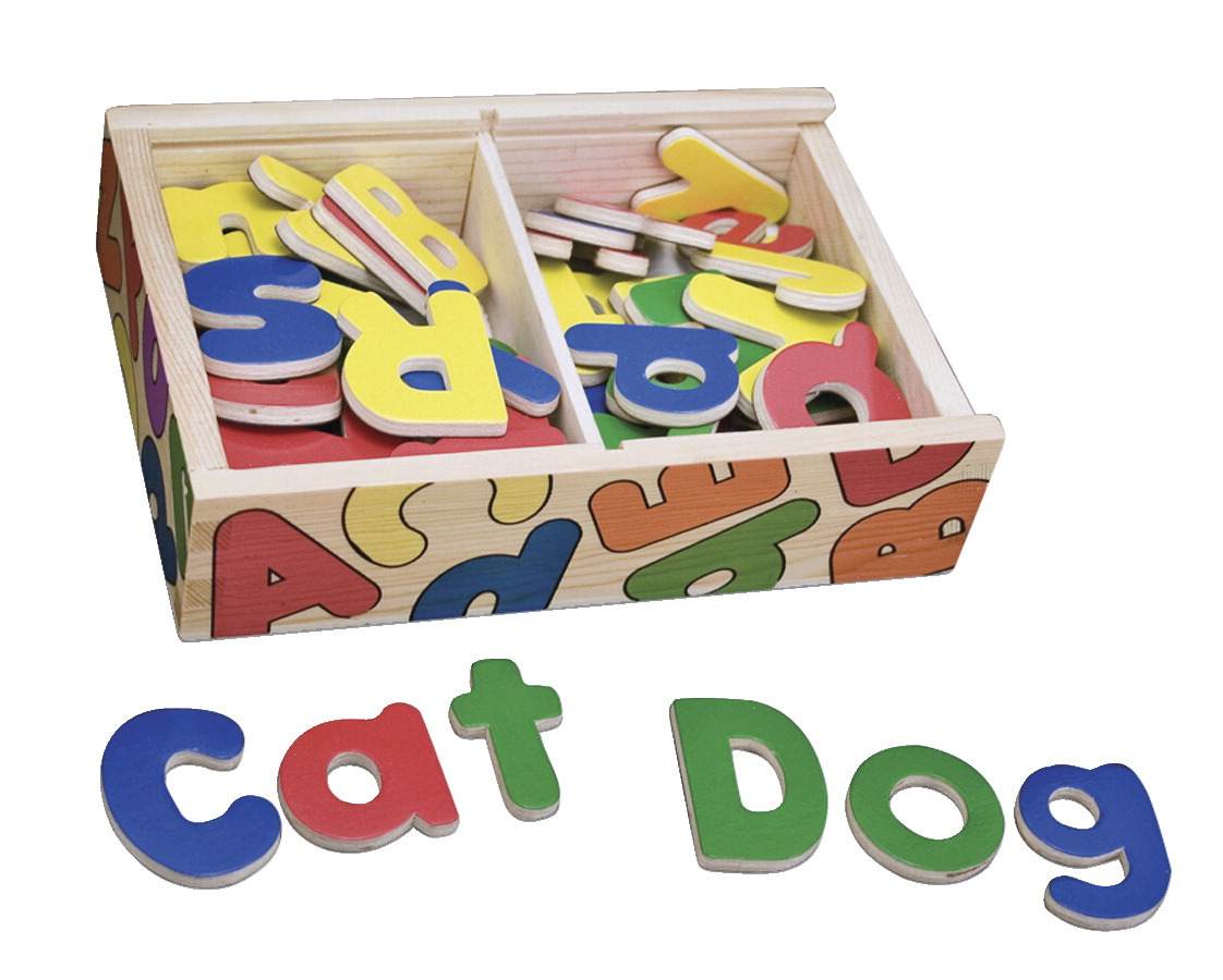 Melissa & Doug Magnetic Wooden Alphabet Set, 52 Pieces