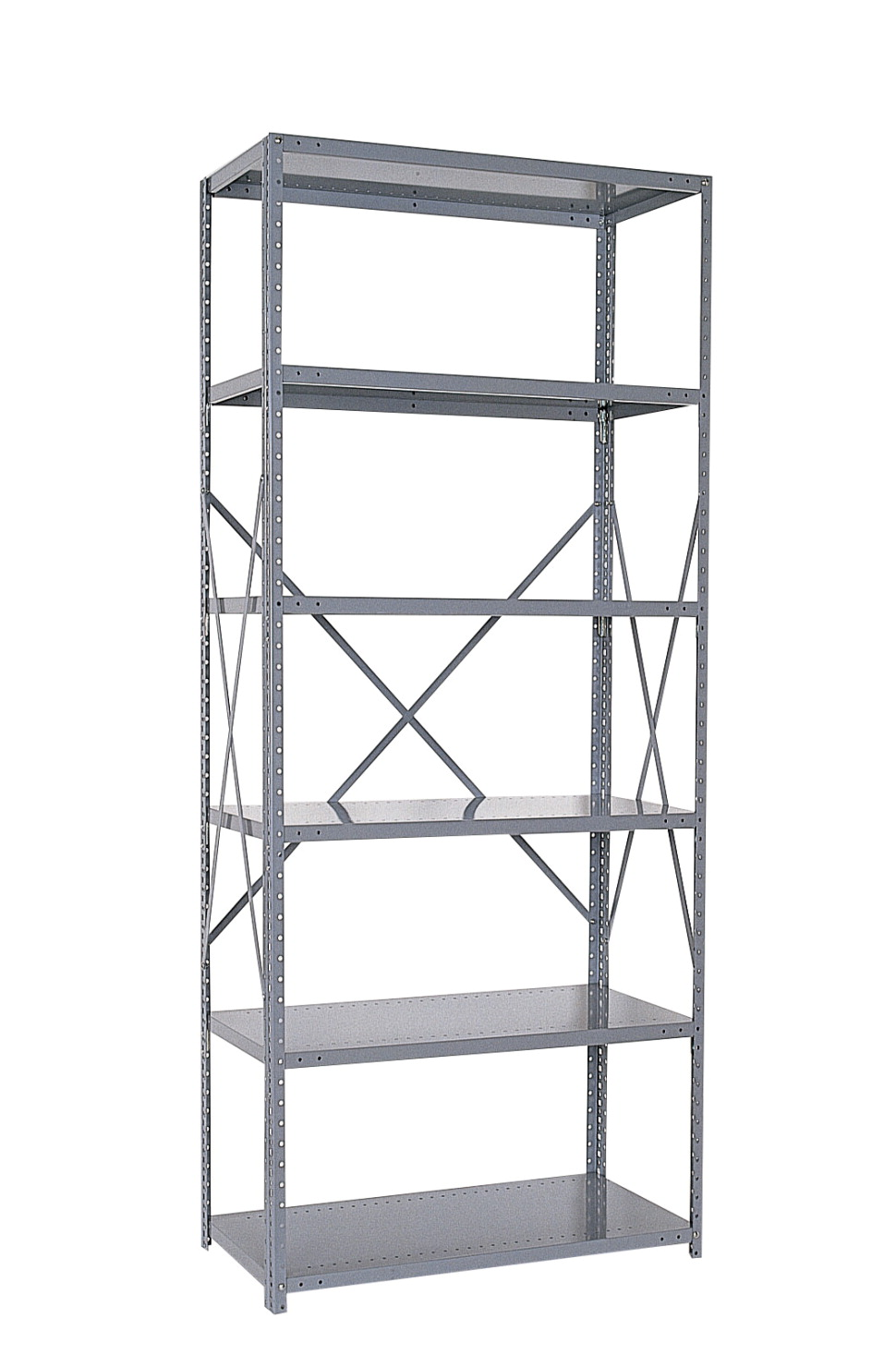 Republic Industrial Clip 5 Shelf Starter Open Unit, 36 x 24 x 85 Inches, Various Options