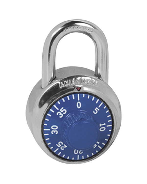 Master Lock Combination Padlock, 2 in, Blue