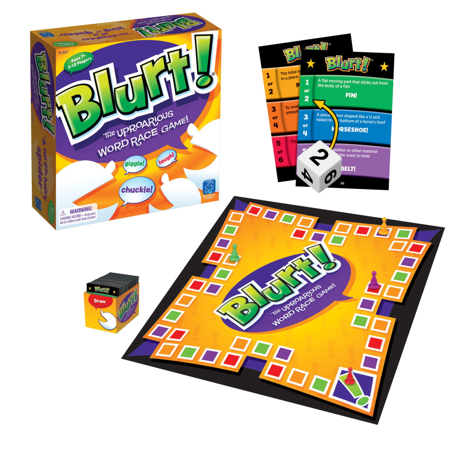 Educational Insights Blurt! Word Race Game, Junior Version