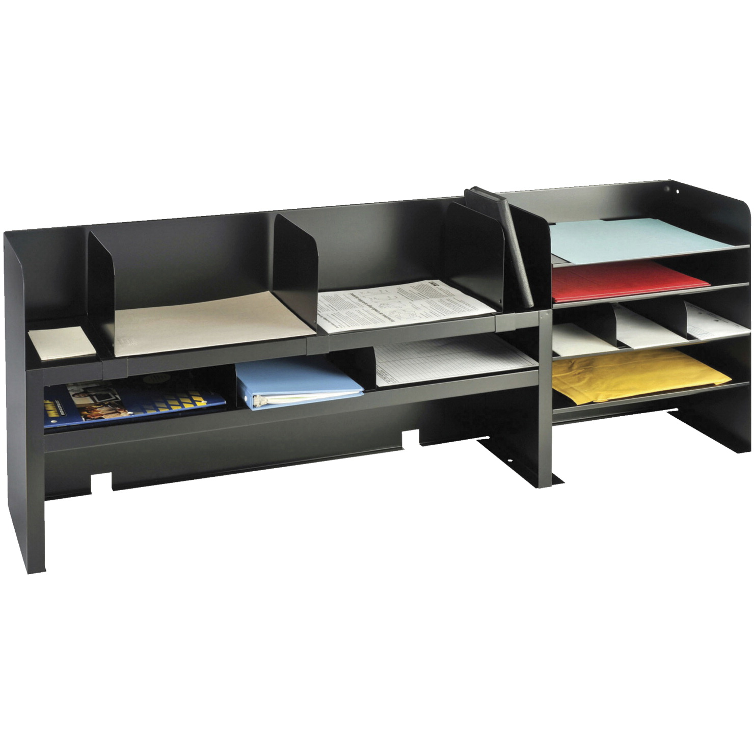 Mmf Industries Steelmaster Desktop Shelf Organizer With Movable Dividers 47 1 4 X