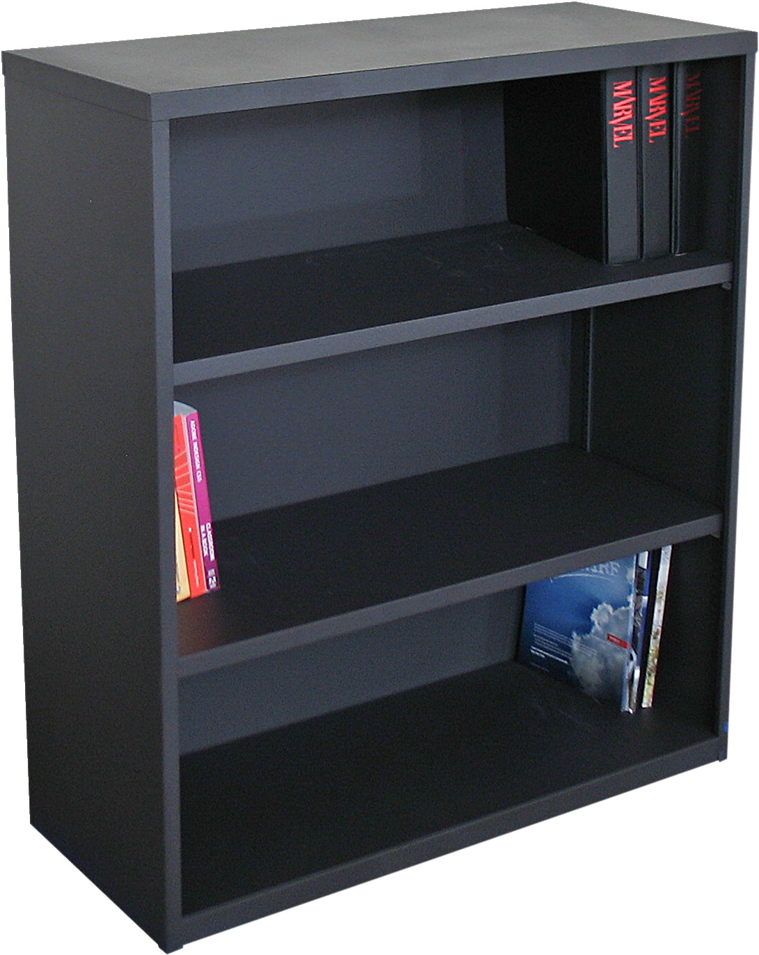 Marvel Ensemble Bookcase, 36 x 14 x 27 Inches, Dark Neutral, 3-Shelves
