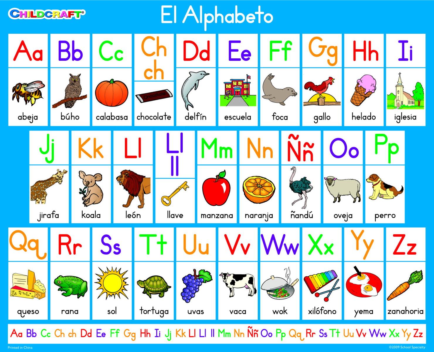 Fabulous image regarding spanish alphabet printable