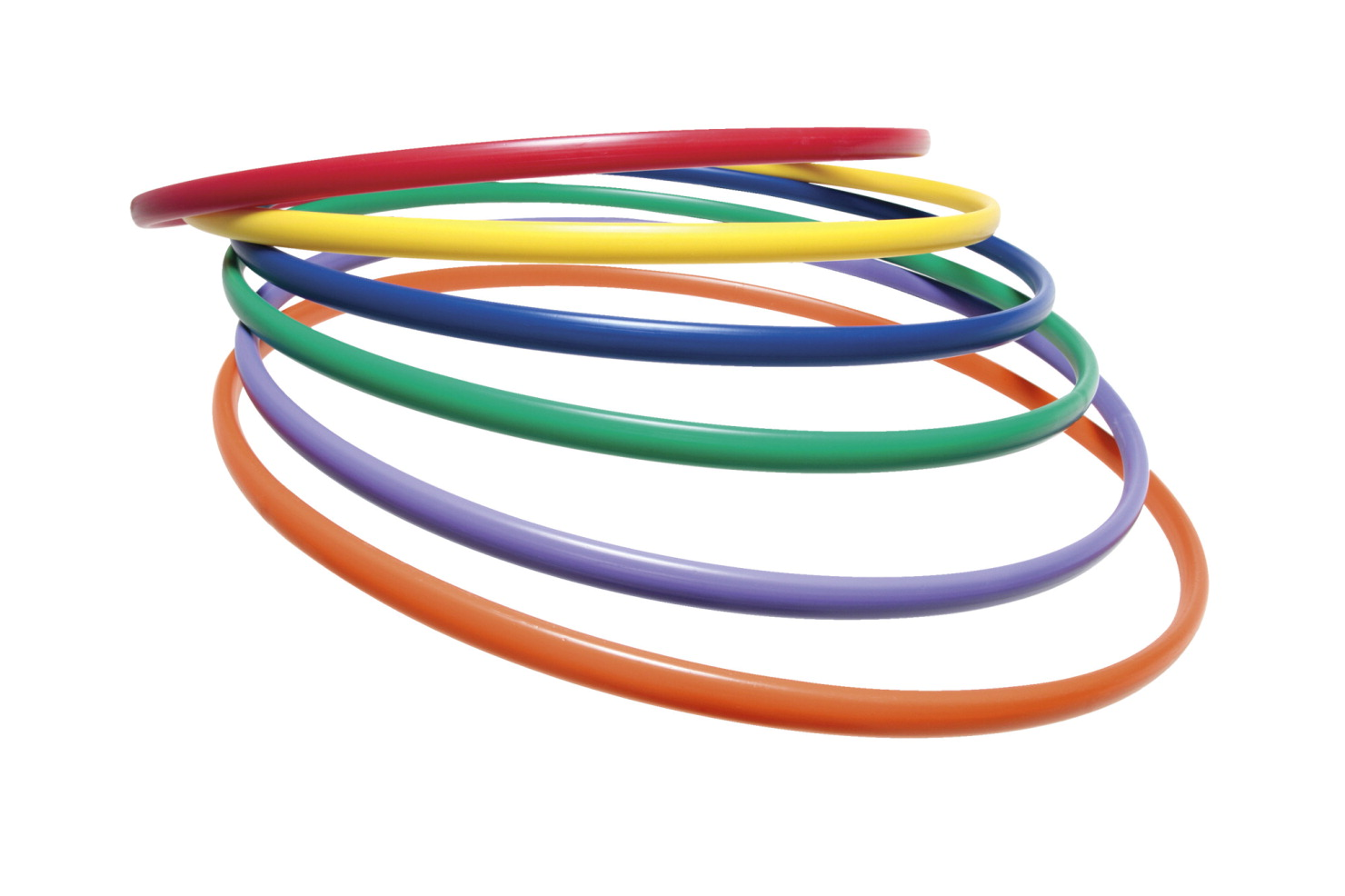 Sportime UltraHoops, 30 Inches, Multiple Colors, Set of 6