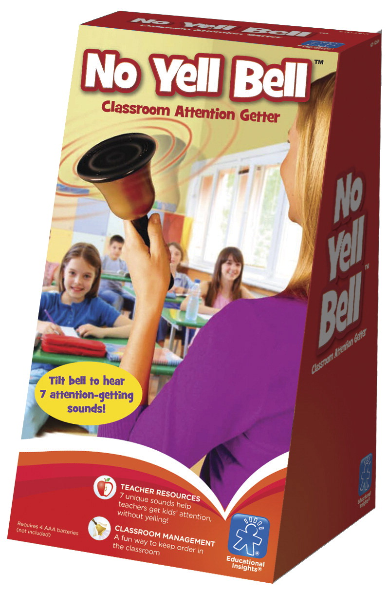 Educational Insights No Yell Bell Classroom Attention-Getter