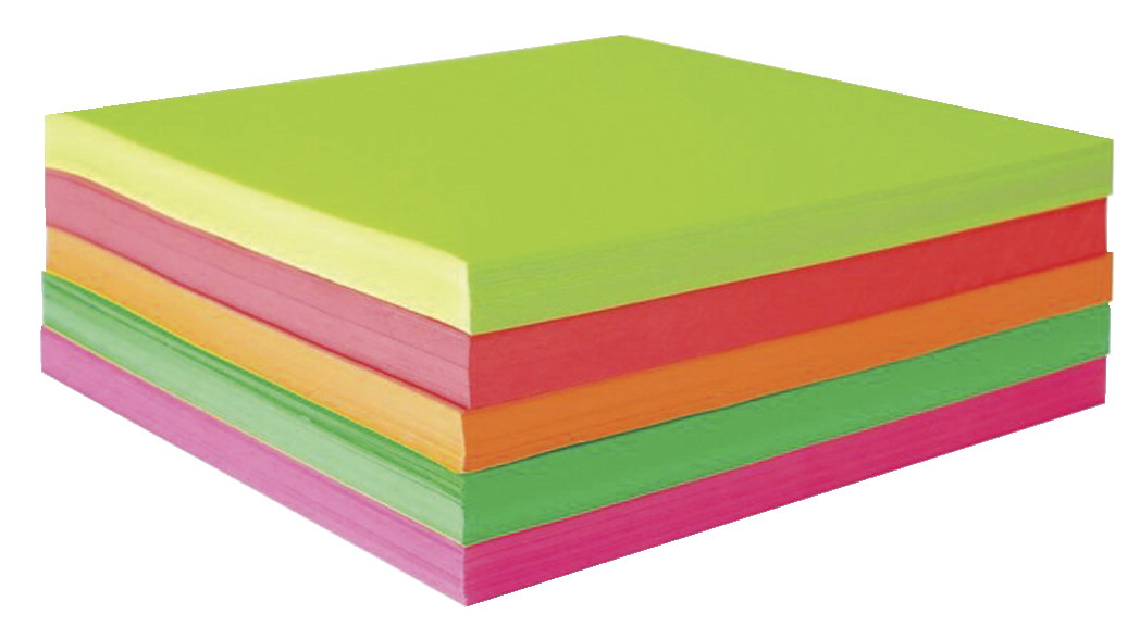Sax Origami Paper, 6-3/4 x 6-3/4 Inches, Assorted Fluorescent Colors, Pack of 500