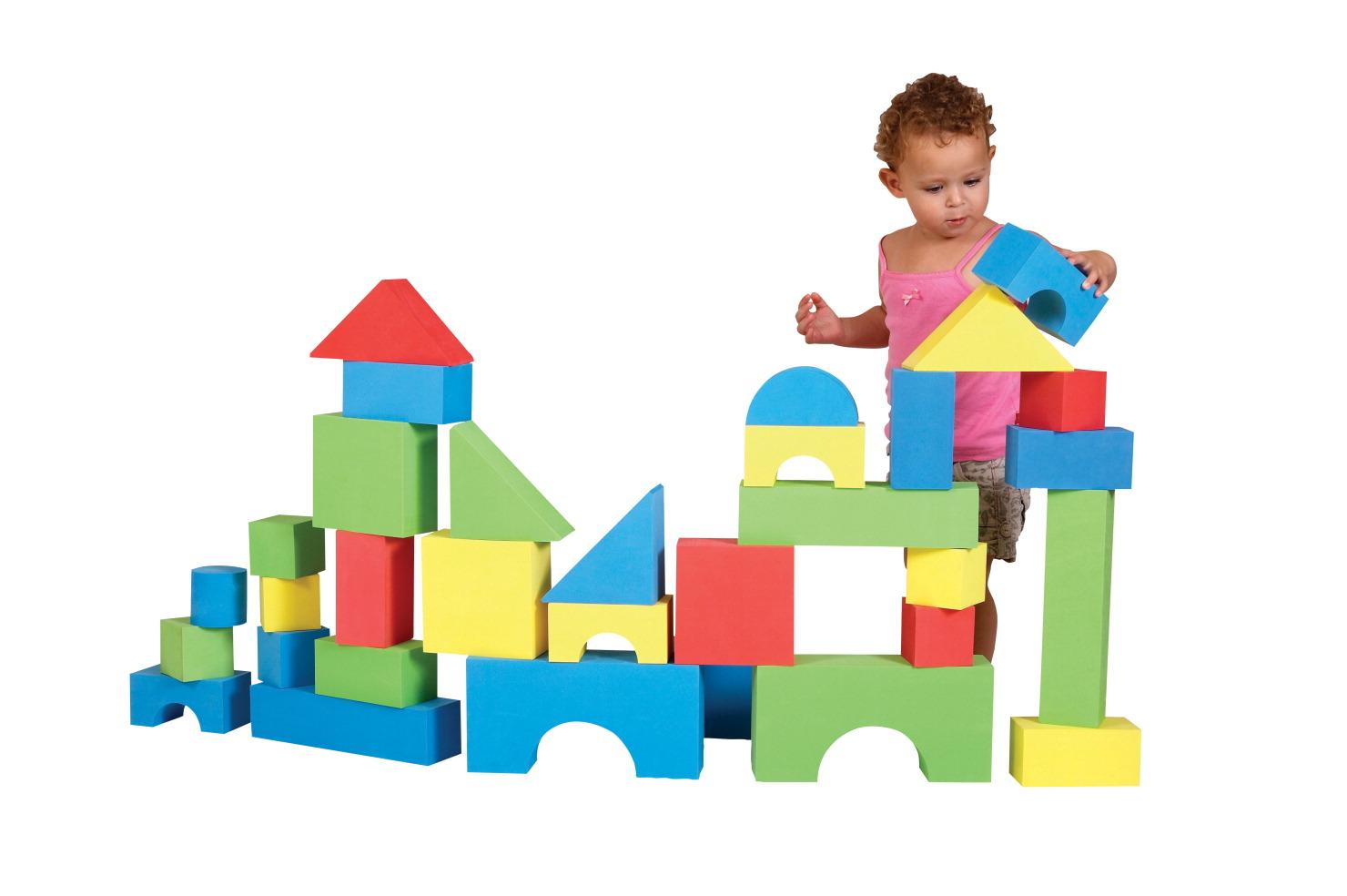 Bau- & Konstruktionsspielzeug-Sets Edushape Soft EduBlock Set