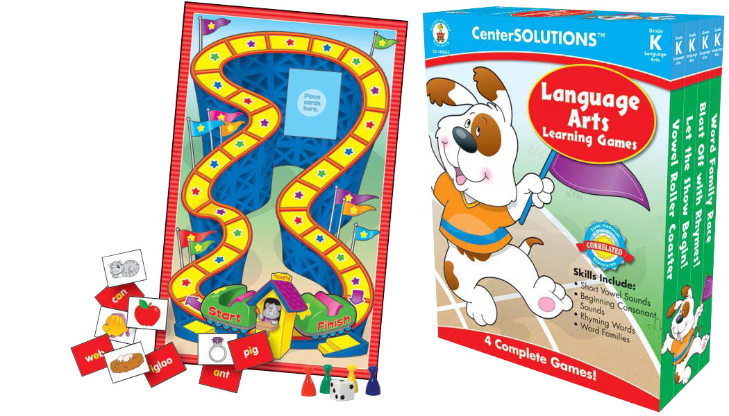 Carson-Dellosa CenterSOLUTIONS Language Arts Learning Game, Grade K