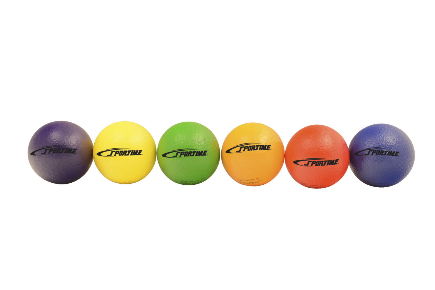 Sportime TechnoSkin Coated-Foam Balls, 2-3/4 Inches, Set of 6