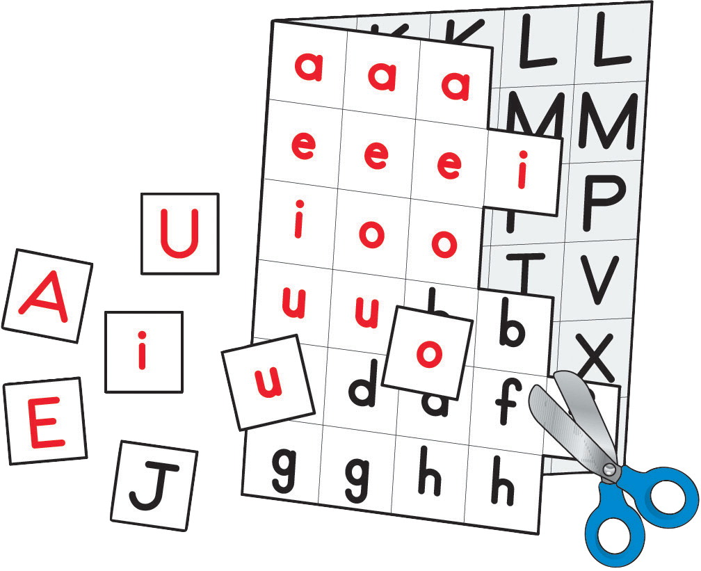 Four Blocks Letters for Making Words