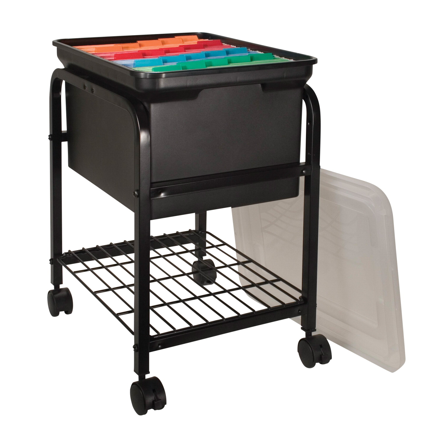 Innovative Classroom Storage ~ Innovative storage designs hanging file cart black clear