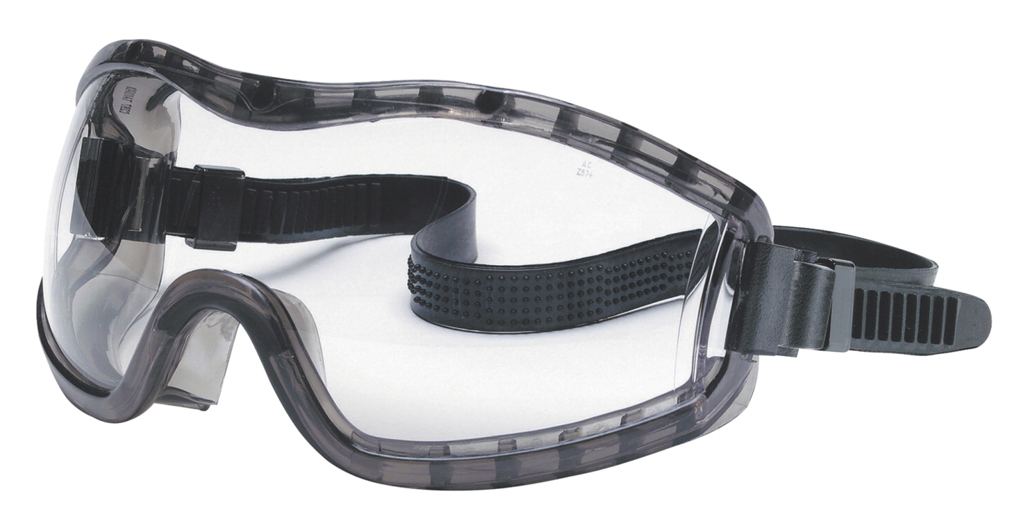 R3 Safety Stryker Anti-Fog Safety Goggle with Rubber Strap, Clear