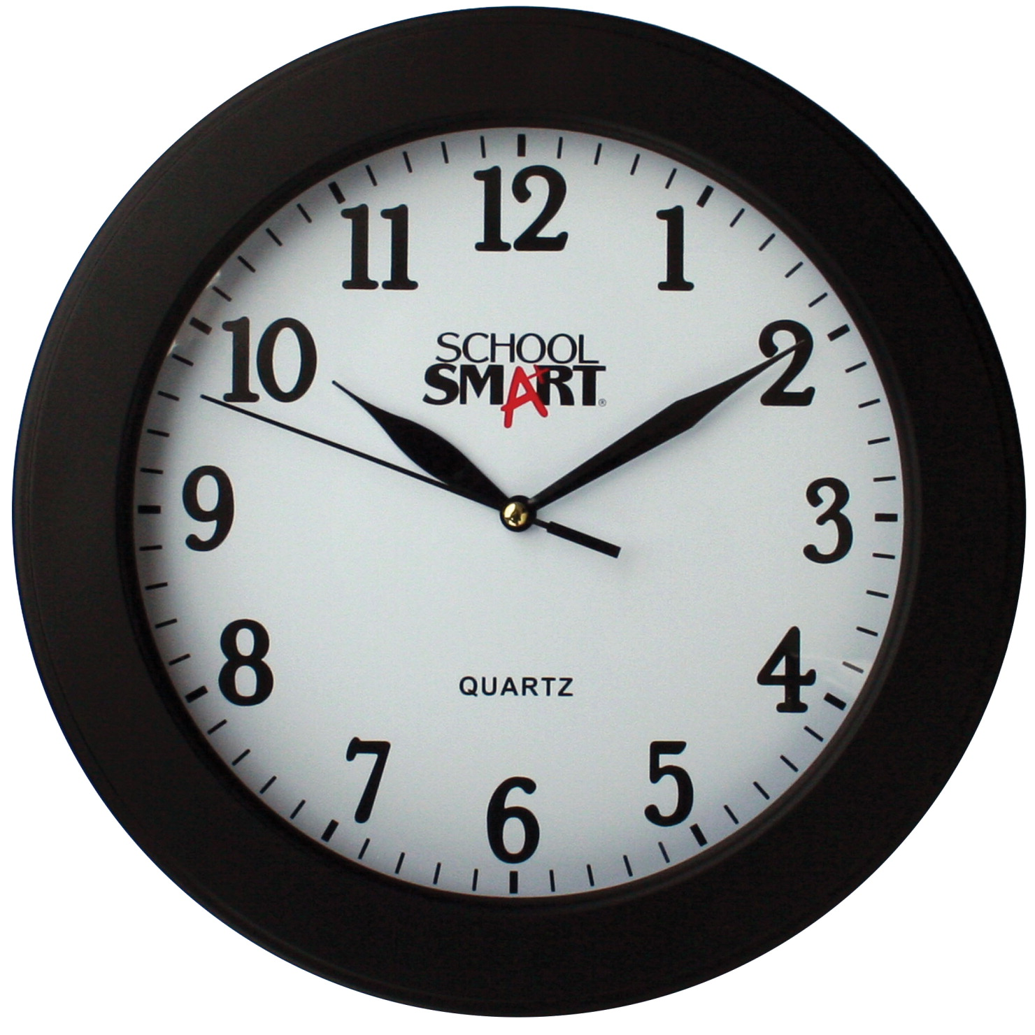School Smart Wall Clock 10 Inches White Dial And Black