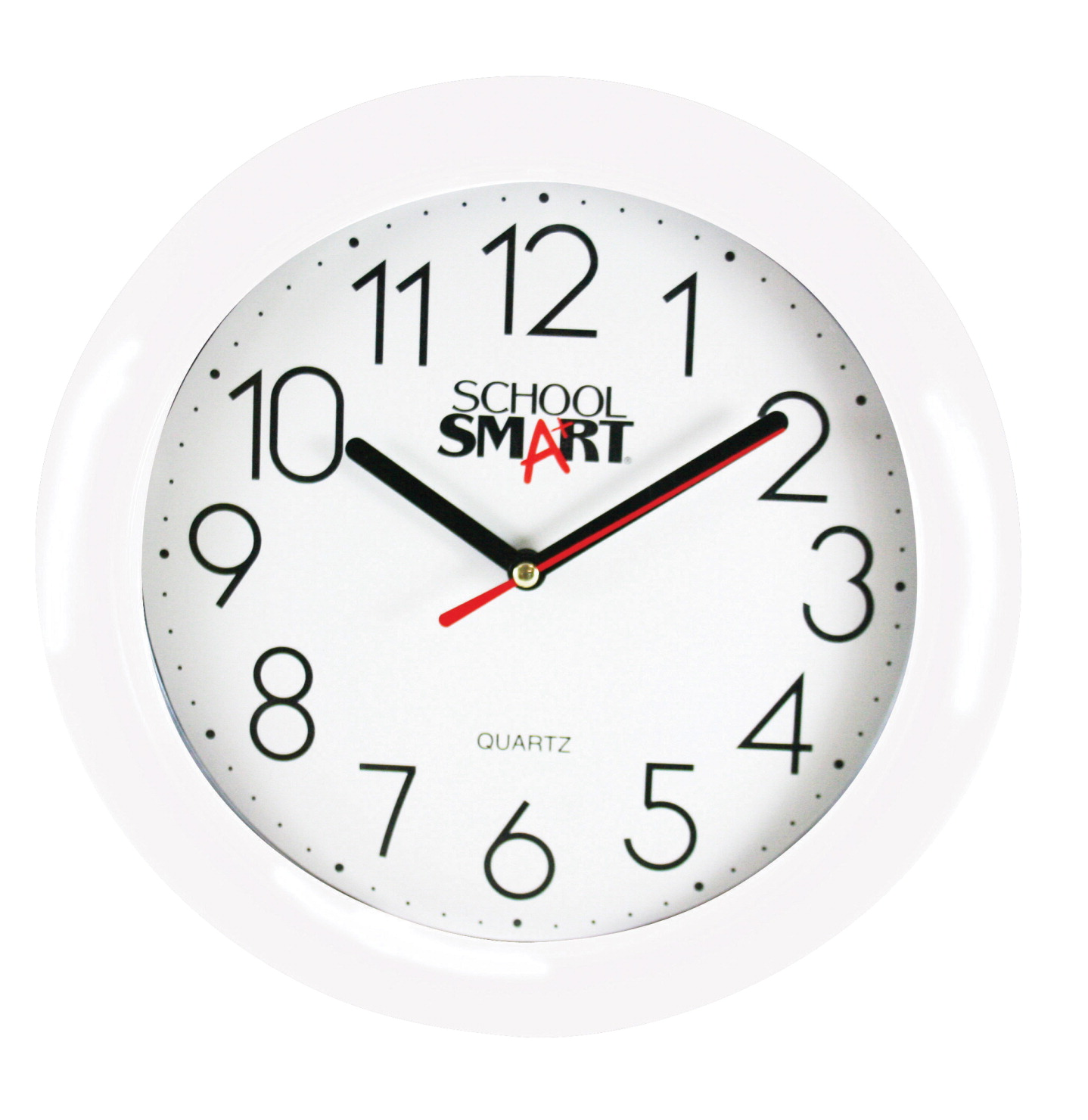 School smart wall clock 10 in white dialwhite frame classroom school smart wall clock 10 in white dialwhite frame amipublicfo Images