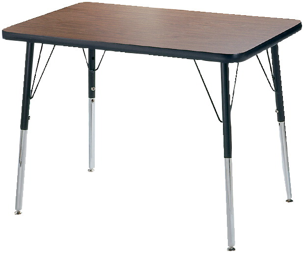 Classroom Select T-Mold Activity Table, Rectangle, Adjustable Height, 24 x 48 Inches, Various Options
