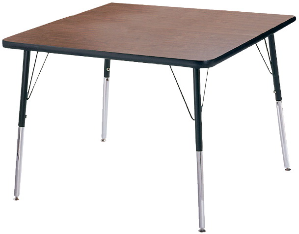 Classroom Select T-Mold Activity Table, Square, Adjustable Height, 42 Inches, Various Options