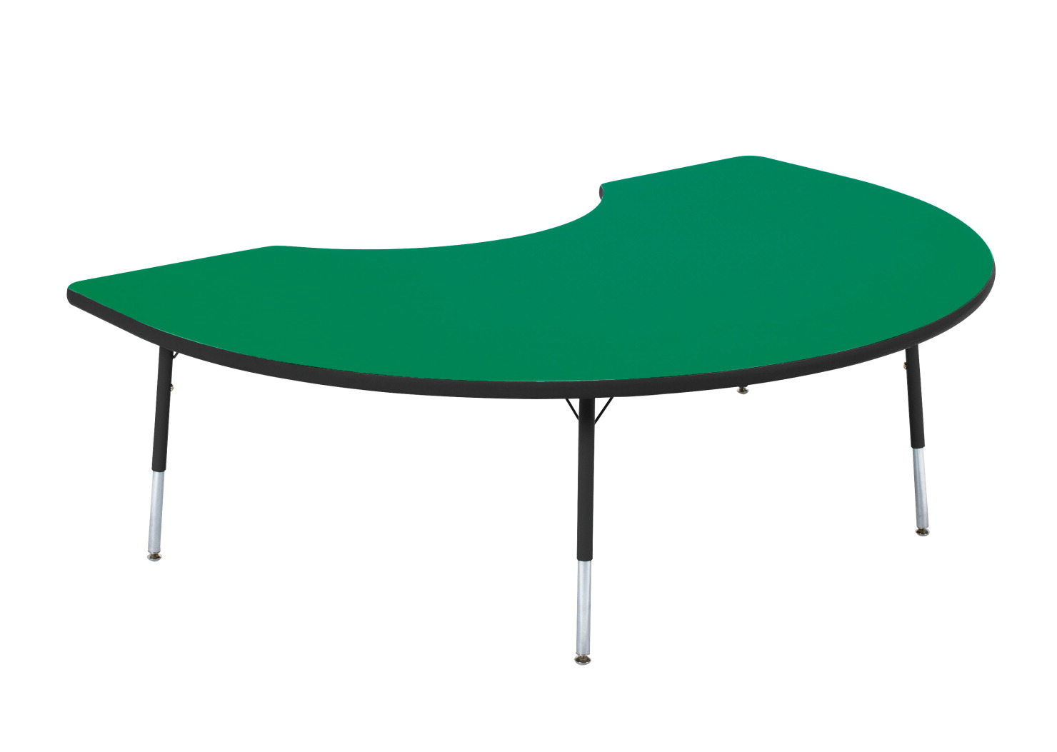 Classroom Select Popular Kidney Activity Table, Adjustable Height, 48 x 72 inches