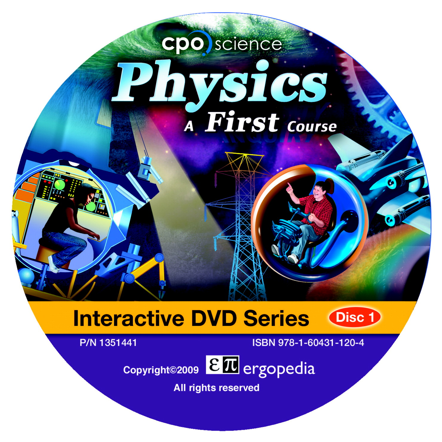 CPO Science Physics A First Course Interactive DVD Set, Set of 2