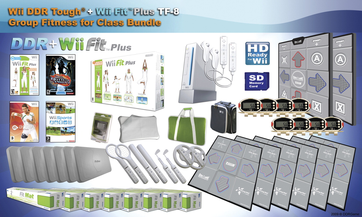 WiiFit DDR Tough + WiiFit Class Set