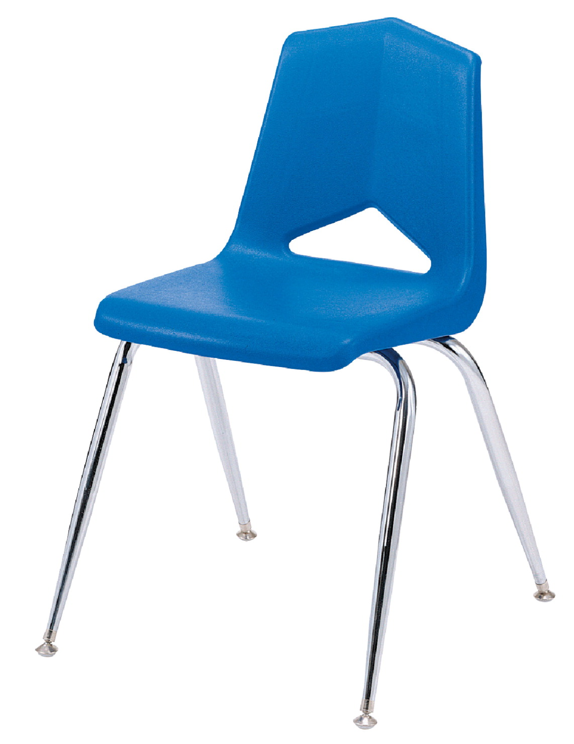 Royal Seating 1100 Four Leg Hard Plastic Shell Chair, 12 Inch Seat, Chrome Frame, Various Options