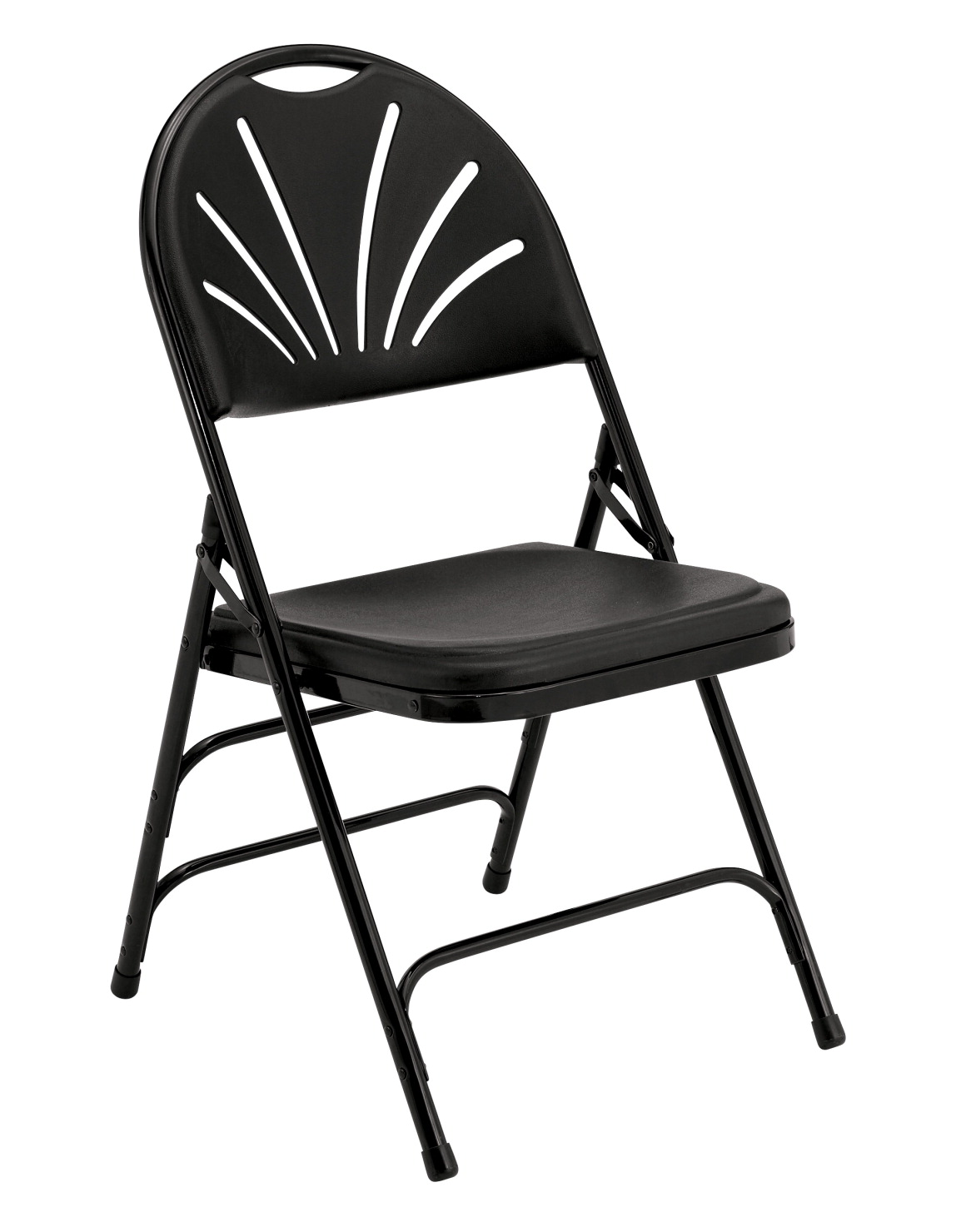 National Public Seating 1100 Series Premium Fan Back Folding Chair, 17-3/4 Inch Seat, Various Options