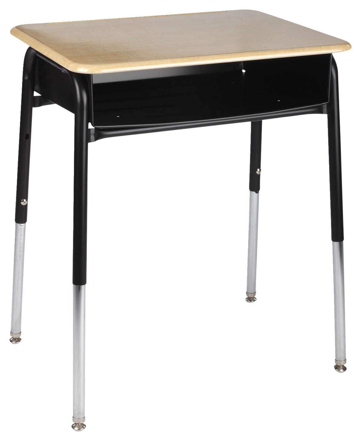 Classroom Select Royal Seating 1600 Open Front Desk, Metal Book Box, 24 x 18 Inches, Hard Plastic Top, Black Frame, Various Options