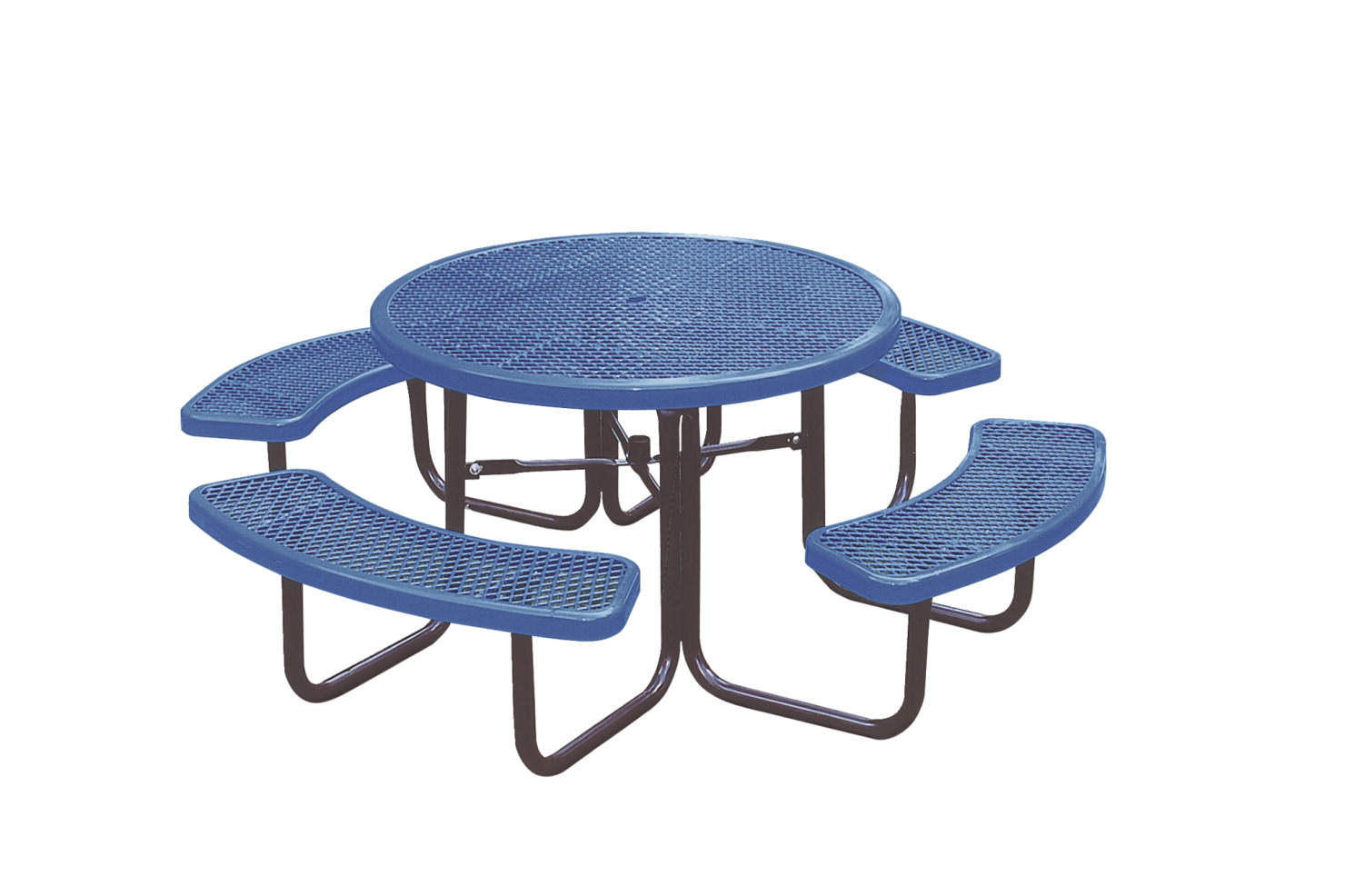 UltraSite UltraCoat Thermoplastic Picnic Table with Benches, 83-3/16 x 83-3/16 x 30-1/8 Inches, Various Options