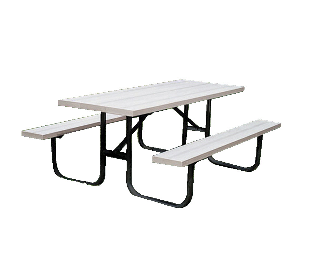 Ultra Site Rectangle Heavy Duty Outdoor Picnic Table, 8 ft, Aluminum