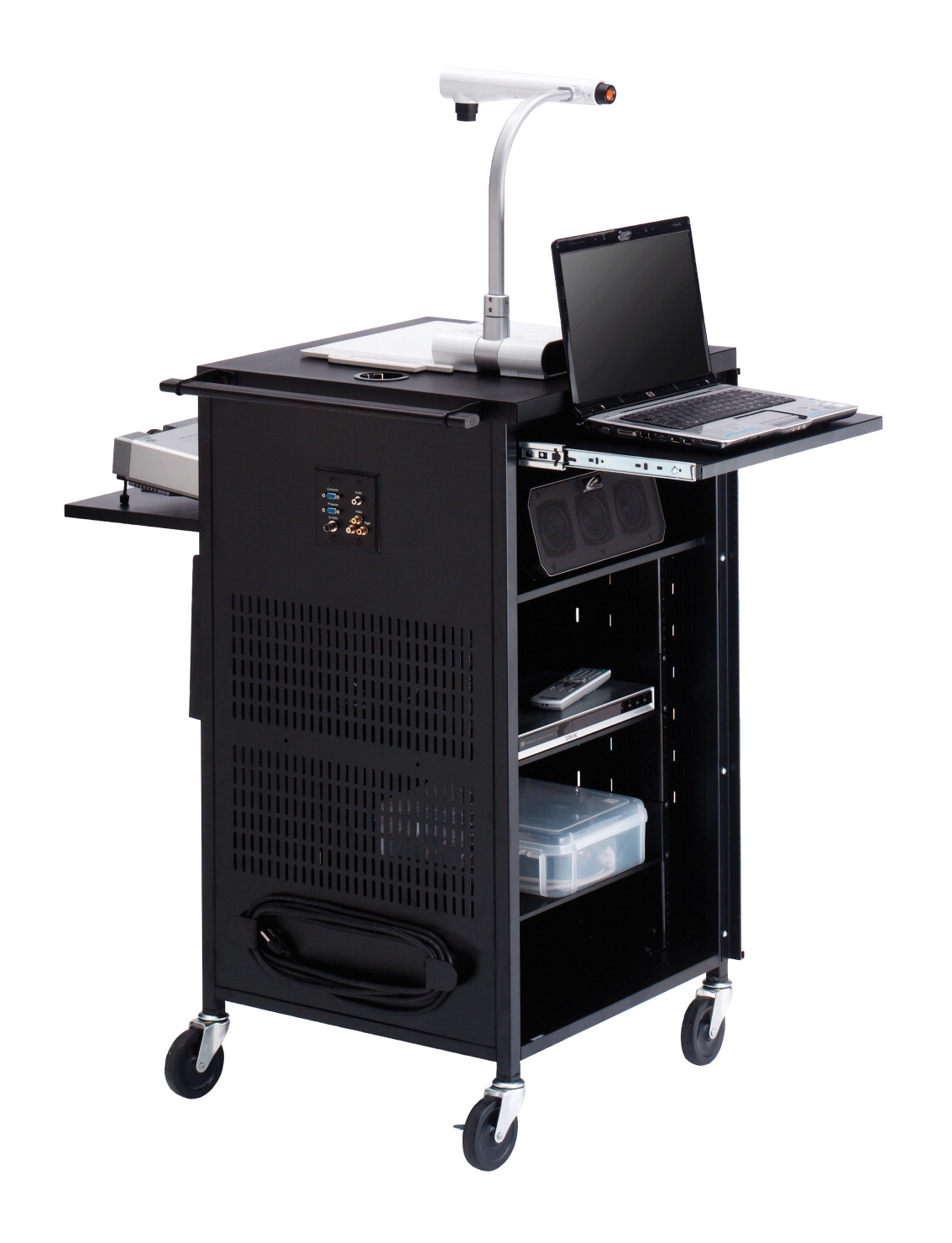 Bretford PAL Multi-Media Presentation Cart Stand, 23 x 23 x 41 Inches, Various Colors