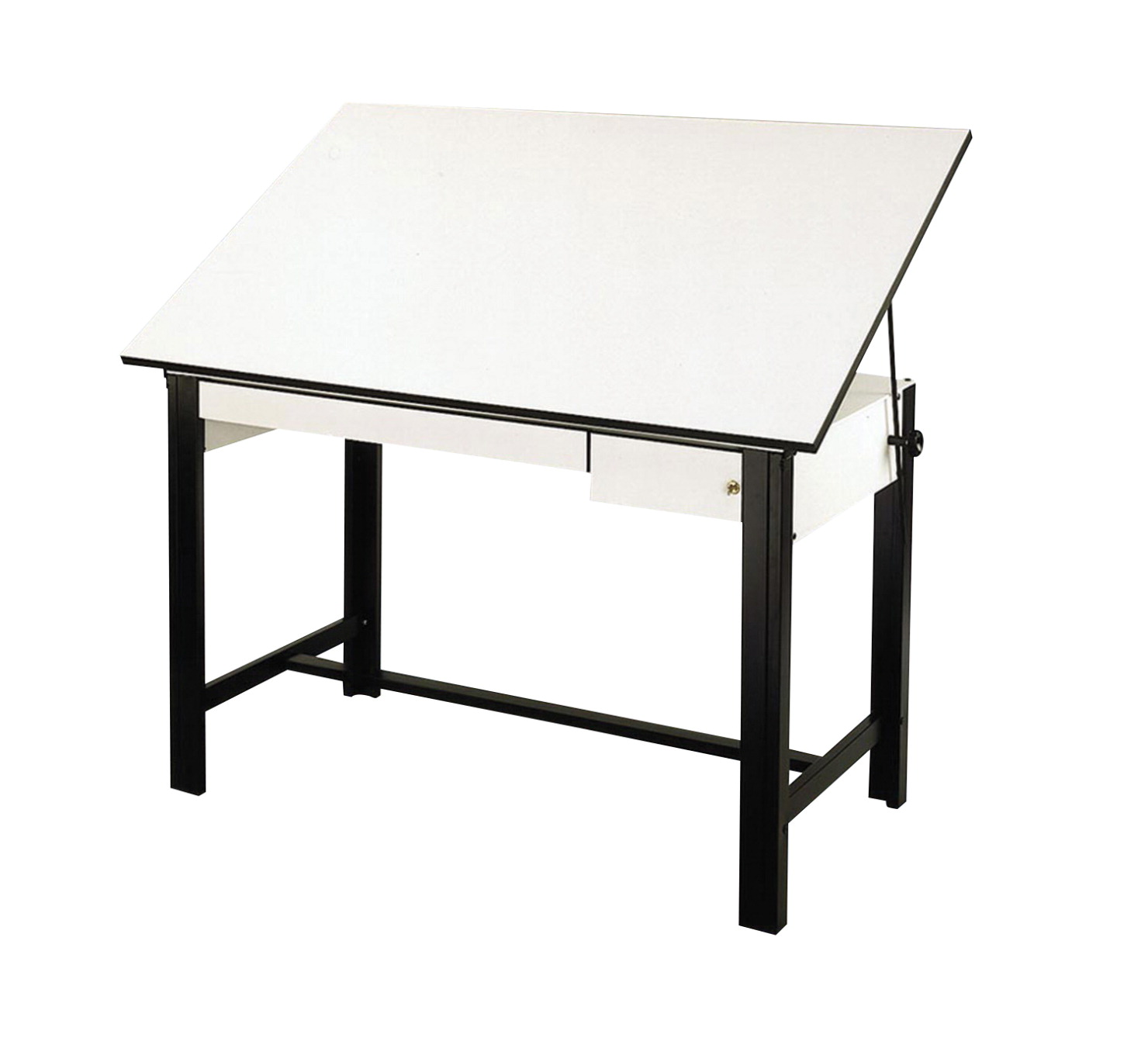 Alvin DesignMaster 4 Post Drawing Table, 60 x 37-1/2 x 37 Inches, Steel Base, Melamine Top