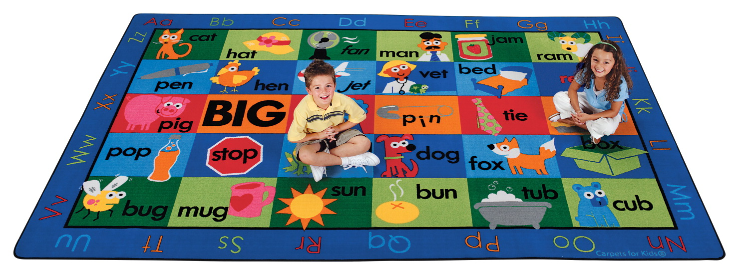 Carpets For Kids Rhyme Time Rug, 8 Feet 4 Inches x 13 Feet 4 Inches, Rectangle