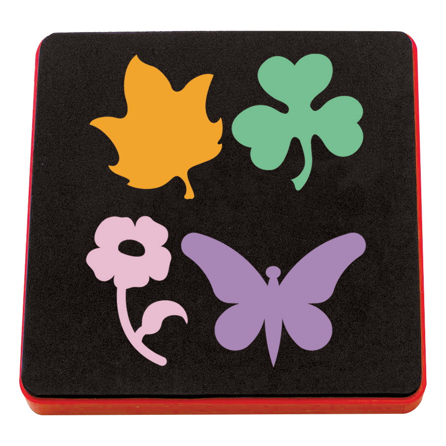 Ellison AllStar Sizzix Bigz SuperStar Wood and Steel Die Set - Butterfly, Flower Set, Leaf, Shamrock, 3-1/2 in, Set of 4