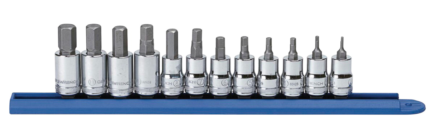 Gearwrench Hex Bit Socket Set - Metric, Set of 12