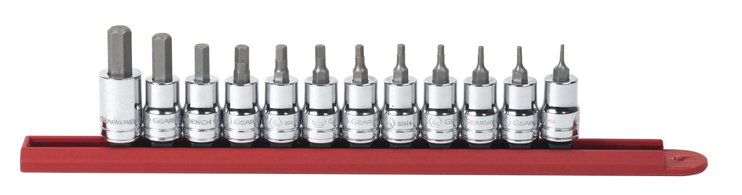 Gearwrench Hex Bit Socket Set - SAE, Set of 12