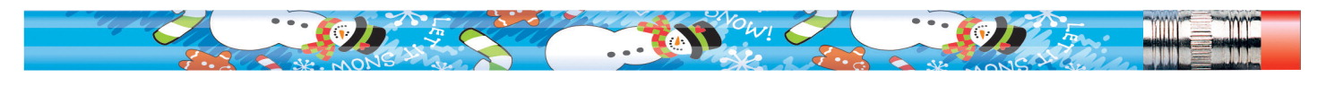 Moon Products Snowman Seasonal Pencils, Pack of 12
