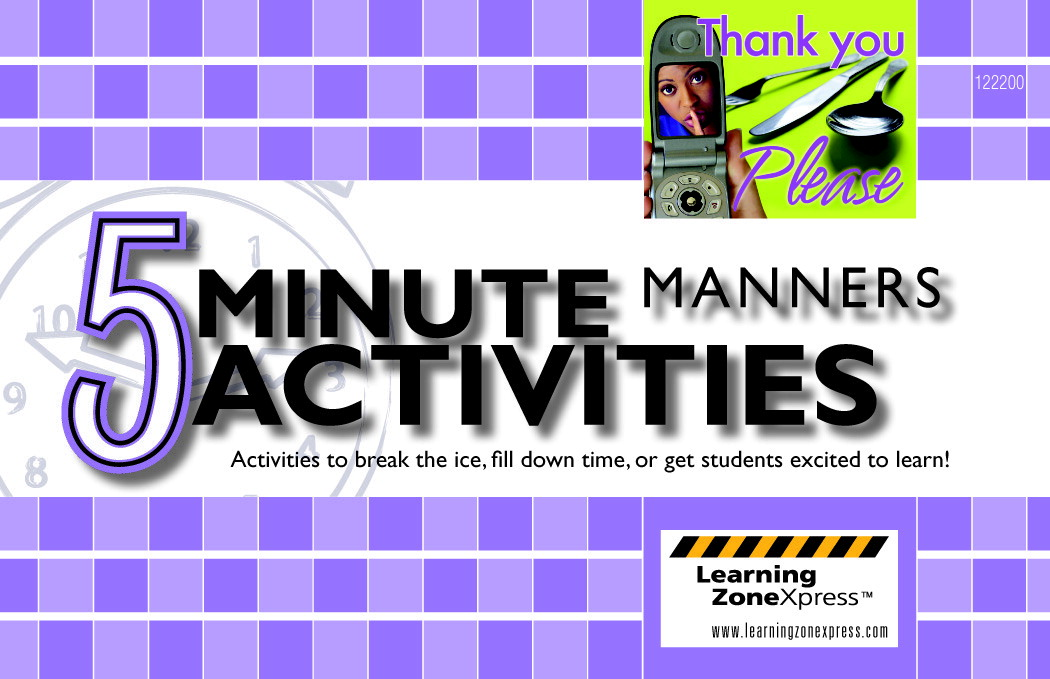 Learning Zone press 5 Minute Manners Activities