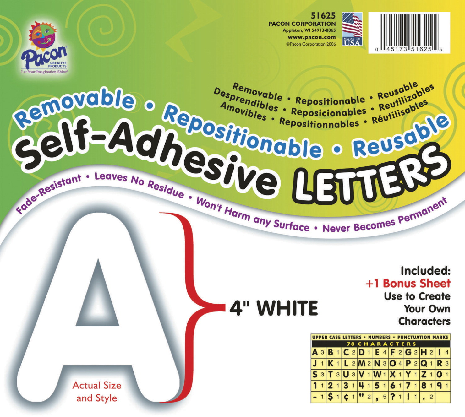 Letter school specialty marketplace for Self adhesive letters white