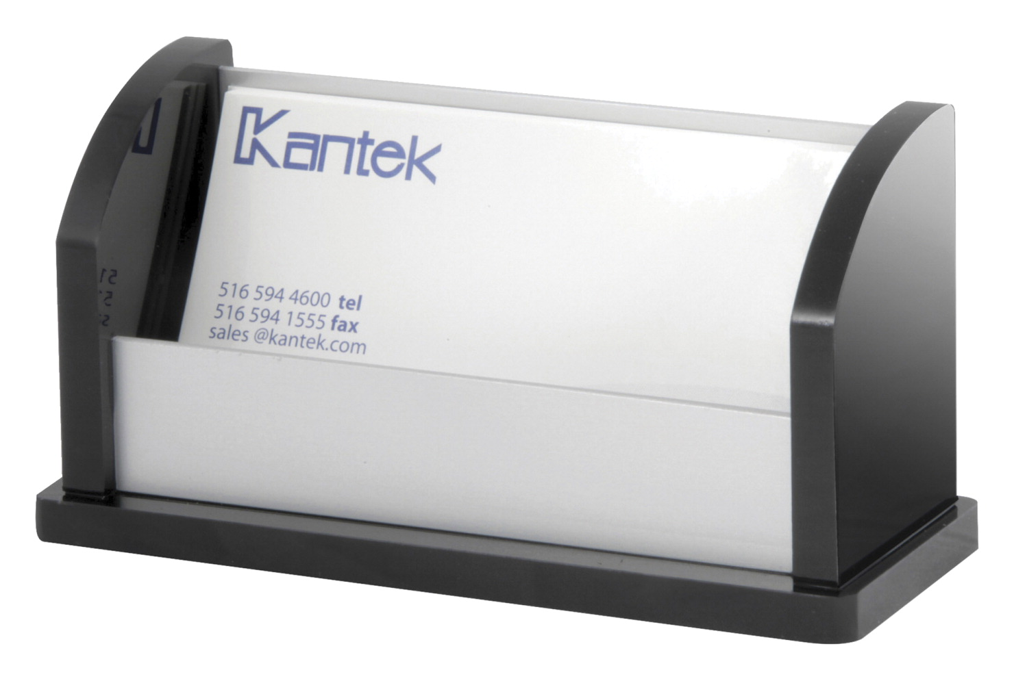Kantek Acrylic Aluminum Business Card Holder 80 Cards Black