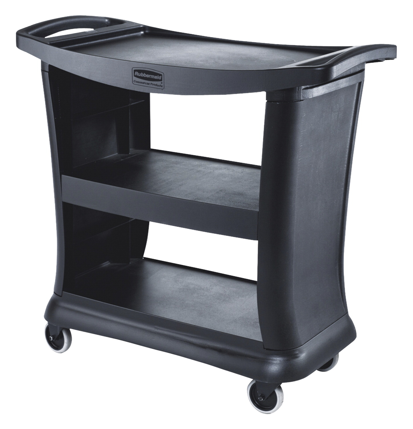 Rubbermaid Mobile Cart, Black, 38-7/8 x 20-1/4 x 32 Inches, 300 Pounds