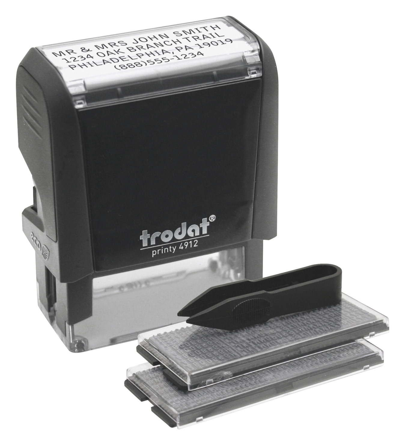 Trodat do it yourself stamp kit black soar life products trodat do it yourself stamp kit 34 x 1 7 solutioingenieria Choice Image