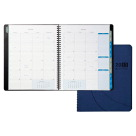 Day-Timer Monthly Planner, Notebook, Wirebnd, 2PPM, 8-1/2 x 1 Inches, Blue