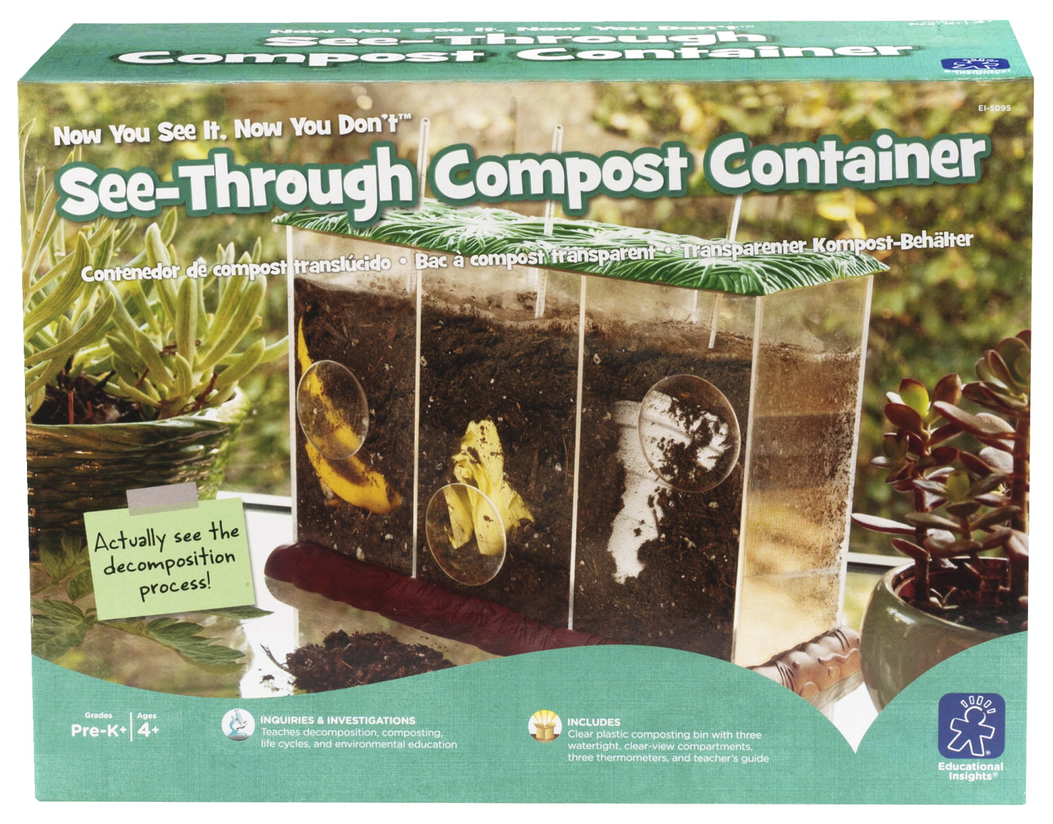 Educational Insights See-Through Compost Container