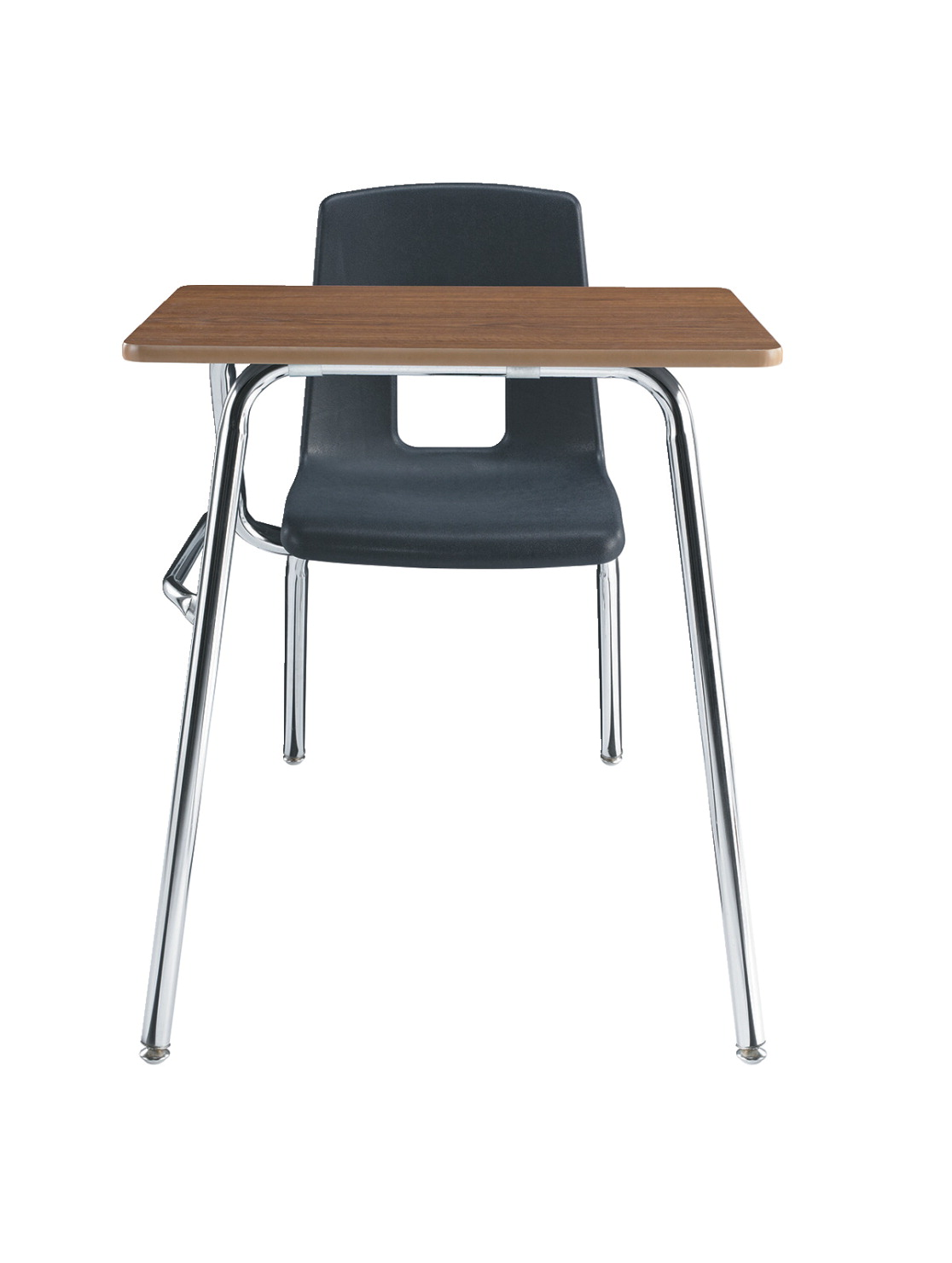 Classroom Select Traditional Combo Desk, 18 x 24 in Laminate Top, 17-1/2 in Seat Height, Chrome Frame
