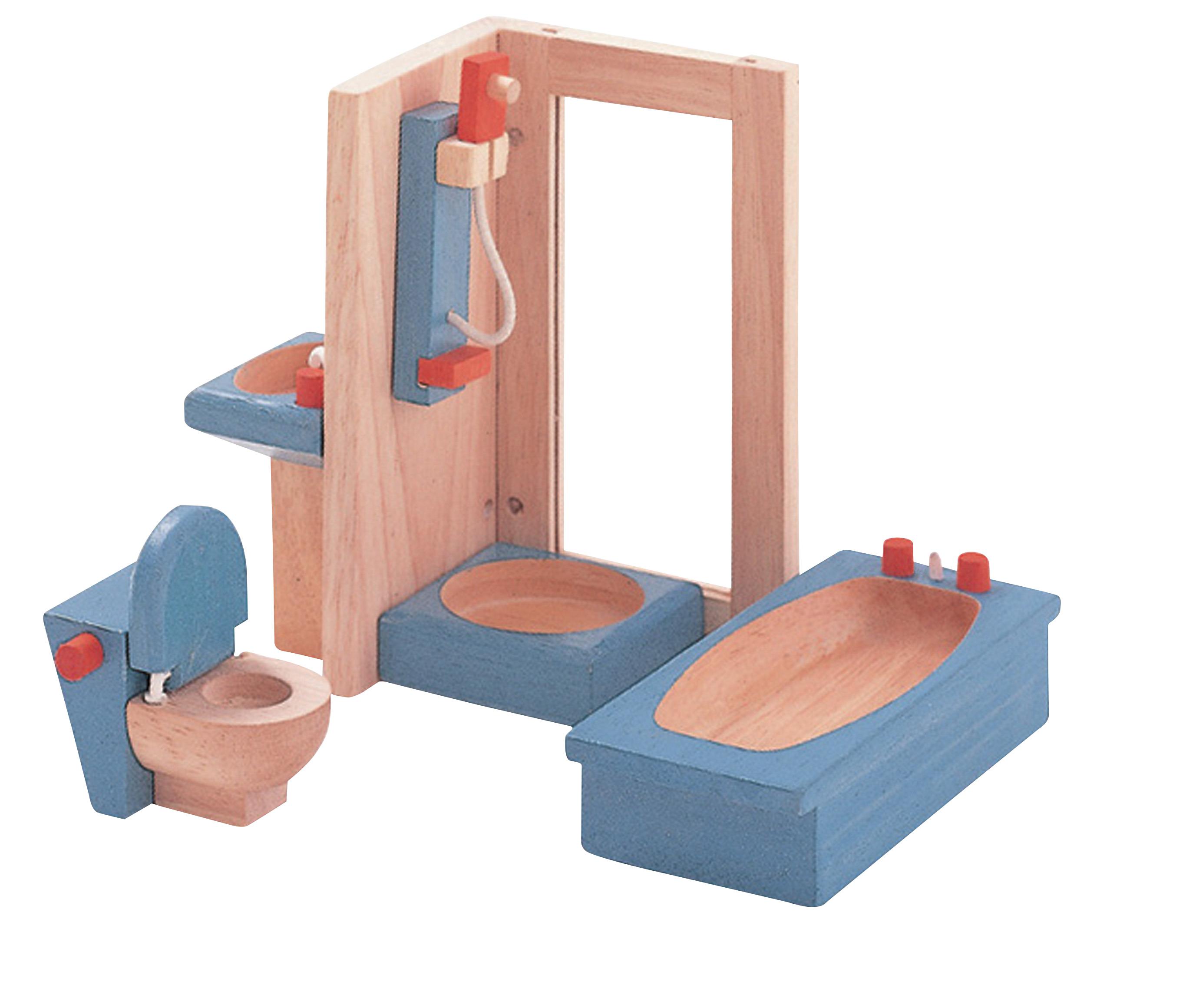 Plantoys colorful furniture bathroom set