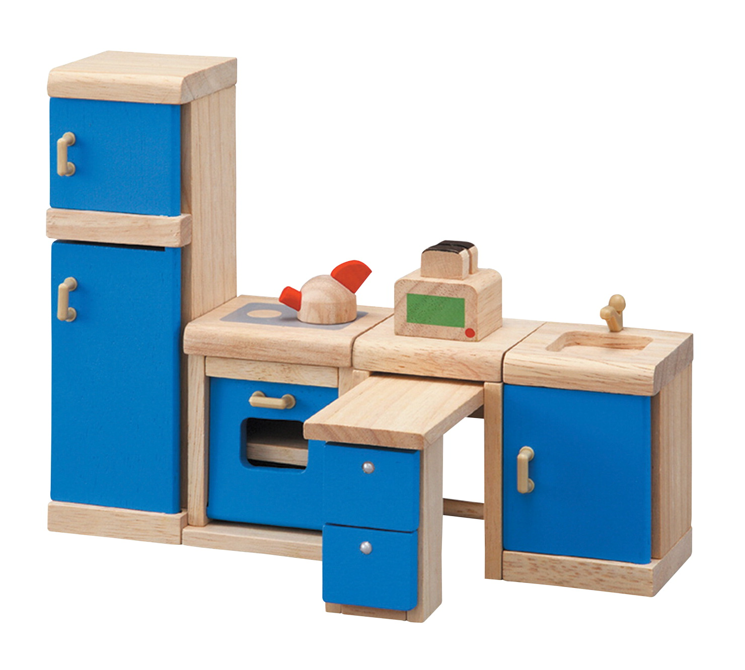 Details about plantoys dollhouse furniture kitchen set 6 pieces