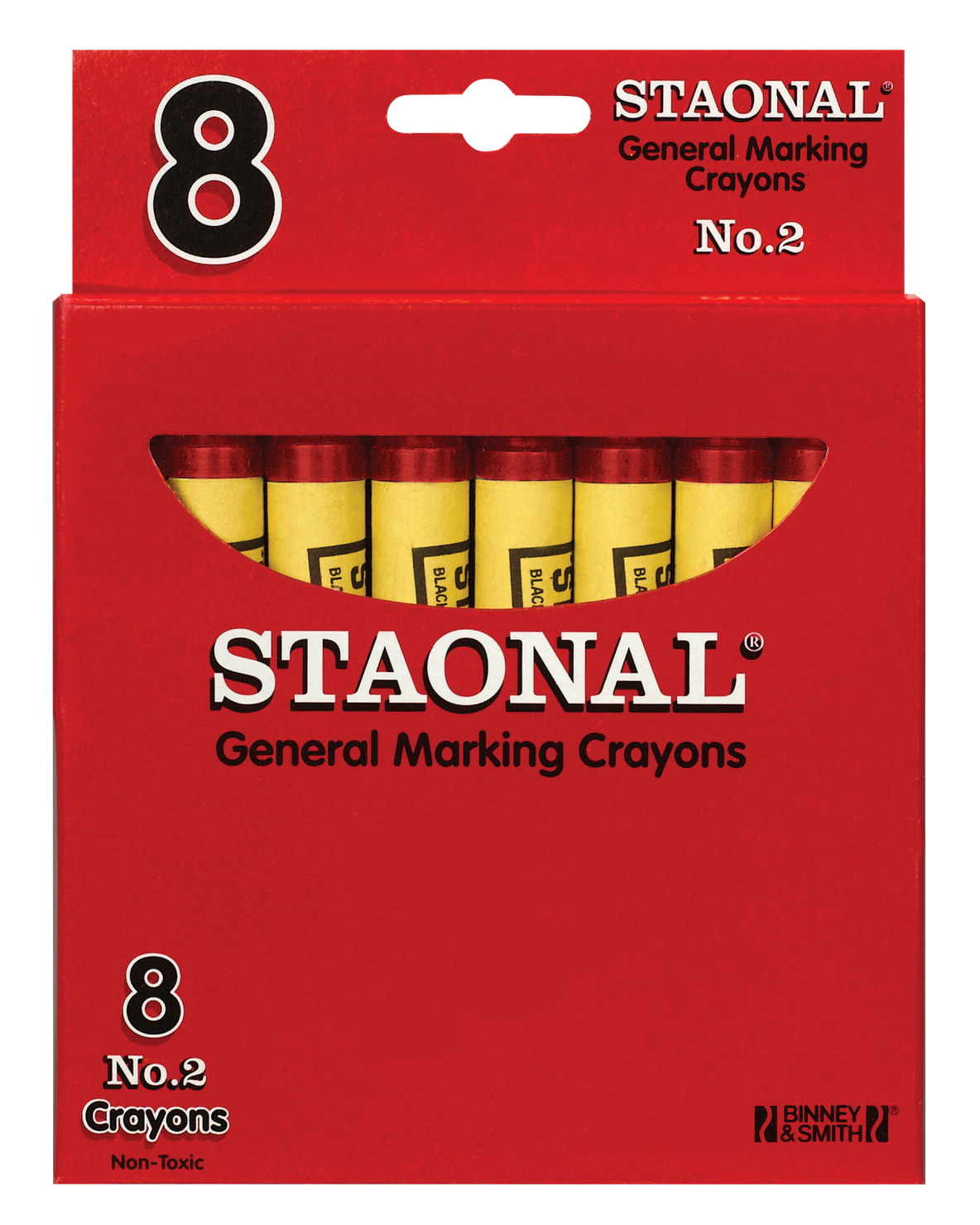 Crayola Staonal General Marking Crayon, Red, Pack of 8