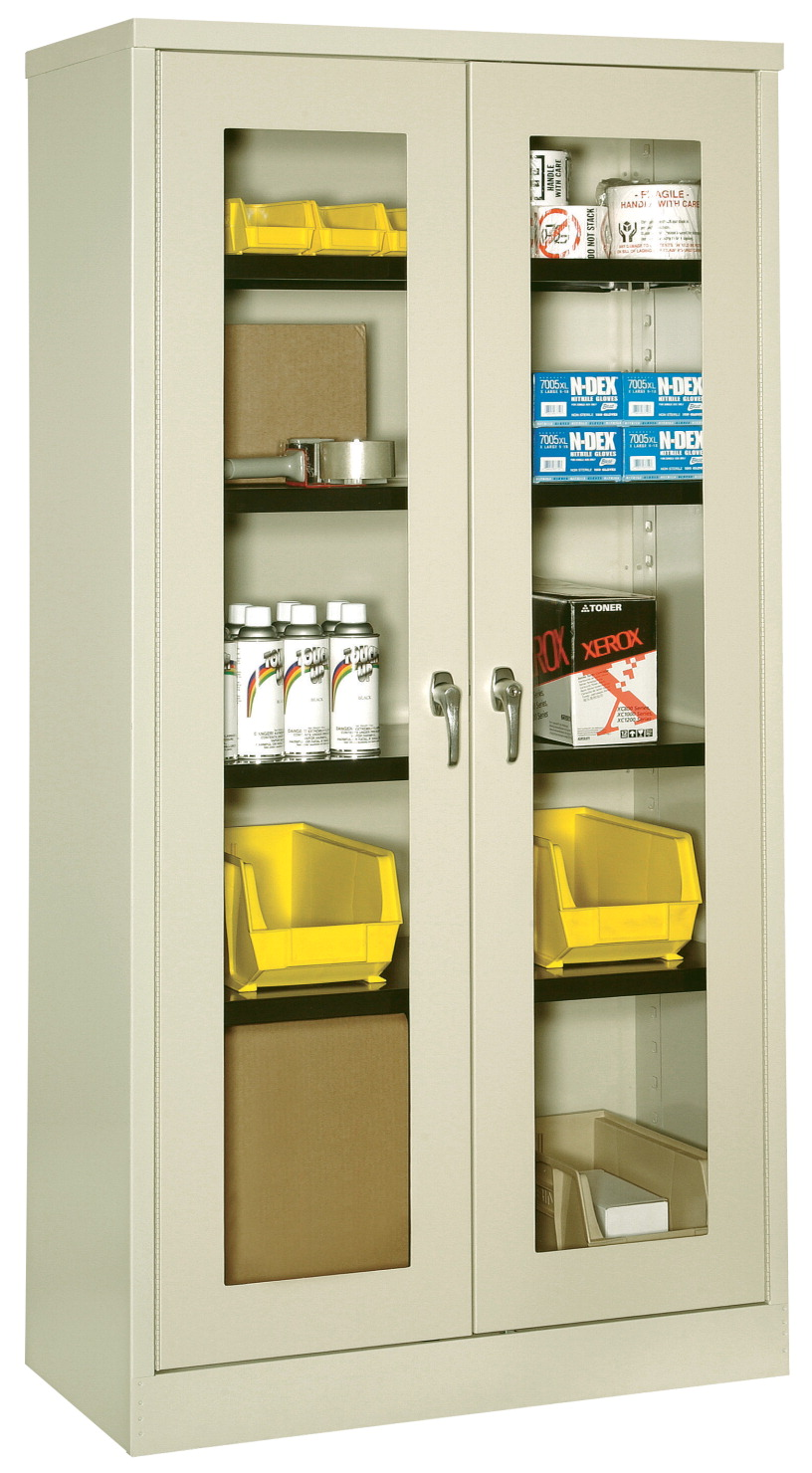 KC Bin Visual Storage Cabinet with Shelves, 36 x 24 x 72 Inches, Various Options